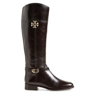 Tory Burch Black Eloise Tall Leather Riding Boot